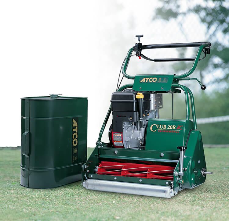 Cylinder lawn mower.