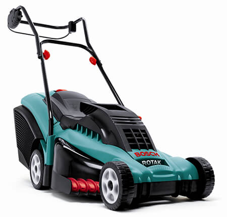Electric and battery mowers.