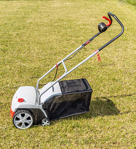 Electric lawn scarifier.