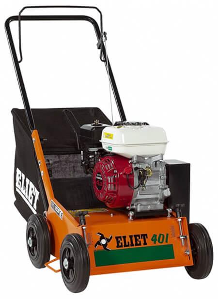 Petrol lawn scarifier.