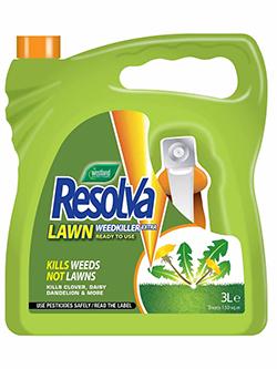 Resolva Lawn Weed Killer.