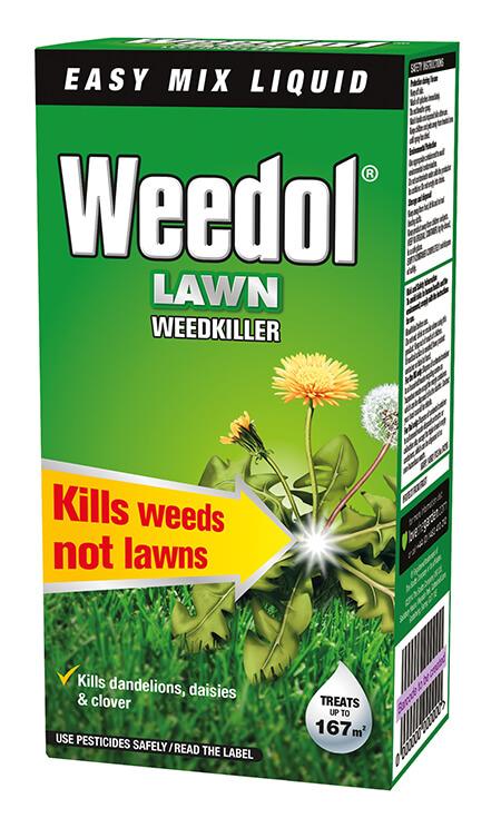 Weedol lawn weedkiller.